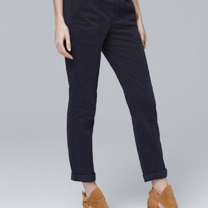 WHBM Straight Crop Navy Pants